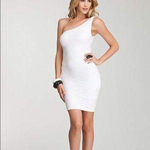Bebe one shoulder bodycon dress